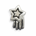 Sterling Silver Story Shooting Star Bead