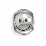 Sterling Silver Story Smiley Face Bead