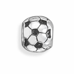 Sterling Silver Story Soccer Ball Bead