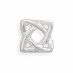 Sterling Silver Story Square Celtic Design Bead