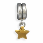 Sterling Silver Story Star Charm Bead