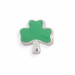 Sterling Silver Story Three Leaf Clover Bead