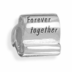 Sterling Silver Story Together Forever Bead