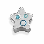 Sterling Silver Story Two Sided Star Bead
