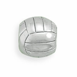 Sterling Silver Story Volleyball Bead