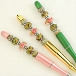 Sweet Pink Bouquet Bead Pen Set