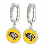 Towson Tigers Enamel Large CZ Hoop Earrings