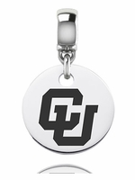 University of Colorado Buffaloes Silver Round Dangle Bead