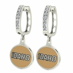 University of Idaho Vandals Enamel Large CZ Hoop Earrings