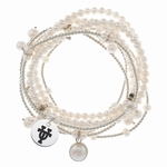 University of Texas Longhorns Multiple Pearl Strand Stretch Bracelets
