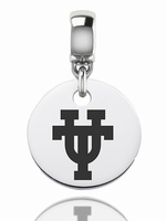 University of Texas Longhorns Silver Round Charm