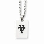 University of Texas UT Stainless Steel Dog Tag Necklace Charm