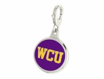 West Chester Golden Rams Enamel Lobster Claw Charm