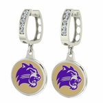 Western Carolina Catamounts Enamel Large CZ Hoop Earrings