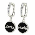 Wichita State Shockers Enamel Large CZ Hoop Earrings
