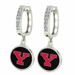 Youngstown State Penguins Enamel Large CZ Hoop Earrings