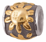 Zable Gold-Plated Sunflower Bead