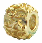 Zable Gold-Plated Vines Bead