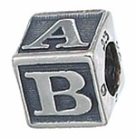 Zable Silver Baby Block Bead