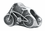 Zable Silver Bicycle Bead