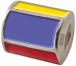 Zable Silver Colombia Flag Bead