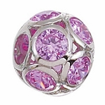 Zable Silver Crystal June Sphere Bead