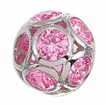Zable Silver Crystal October Sphere Bead