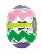 Zable Silver Easter Egg Bead