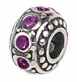 Zable Silver February Birthstone Bead