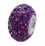 Zable Silver February Crystal Birthstone Bead