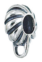 Zable Silver Fluted Charm Carrier