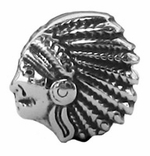 Zable Silver Indian Bead