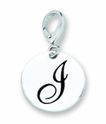Zable Silver Initial I Disc Charm