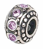 Zable Silver June Birthstone Bead