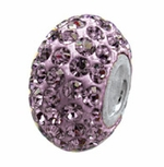 Zable Silver June Crystal Birthstone Bead