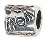 Zable Silver MOM Bead