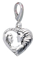 Zable Silver Mothers Love Heart Charm