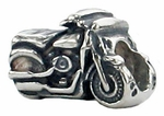 Zable Silver Motorcycle Bead