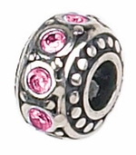 Zable Silver October Birthstone Bead