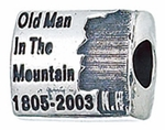 Zable Silver Old Man in the Mountain, NH Bead