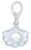 Zable Silver Oyster with Pearl Bead Charm