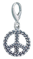 Zable Silver Peace Sign Charm