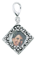 Zable Silver Picture Frame Bead Charm