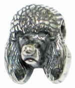 Zable Silver Poodle Dog Bead