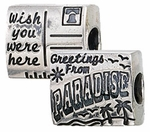 Zable Silver Postcard from Paradise Bead