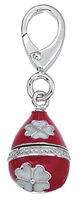 Zable Silver Red Faberge Egg Bead Charm