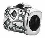 Zable Silver Suitcase Bead