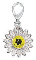 Zable Silver Sunflower Crystals Bead Charm
