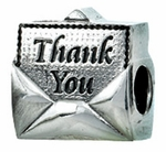 Zable Silver Thank You note Bead
