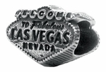 Zable Silver Welcome to Vegas Bead
